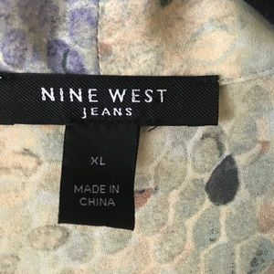 Nine West Tops - Nine West Jeans Sleeveless Faux Wrap Snakeskin Top